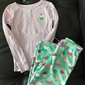 Cotton and fleece pajamas